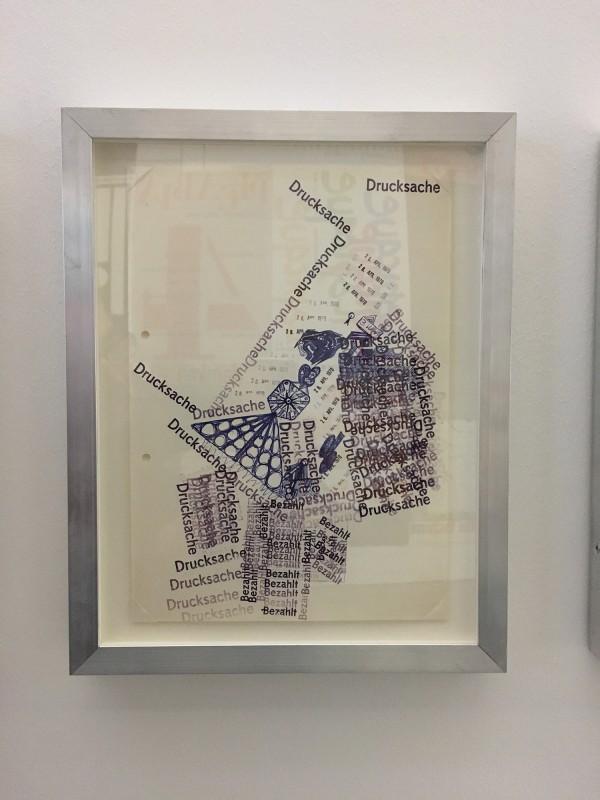 Harald Szeemann - Museum der Obsessionen - Kunsthalle Duesseldorf - Komposition mit Szeemanns Stempeln fruehe 1970ger Jahre