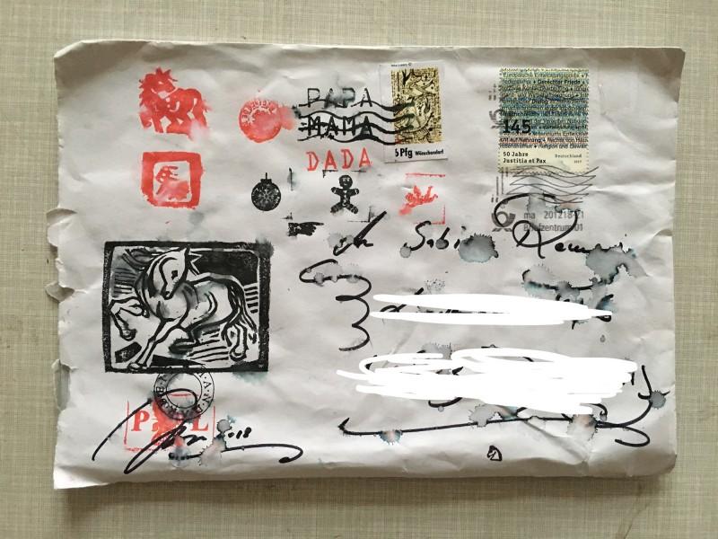 Petra Lorenz Dezember 2018 regennasser Briefumschlag