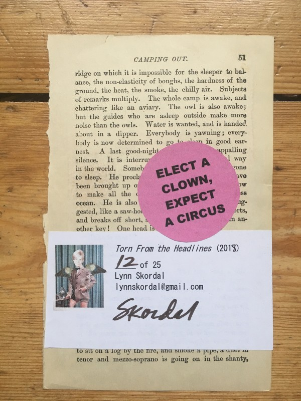 Zine in a box No 17 - 2018 - Lynn Skordal back
