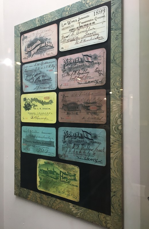 Antike Fahrkarten im Lightner Museum - Antique Tickets at the Lightner Museum