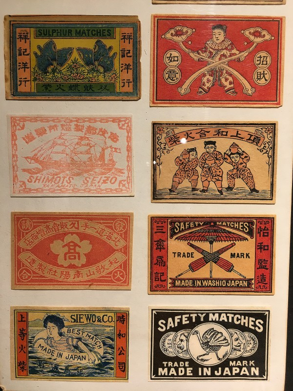 Antike Streichholzschachteletiketten im Lightner Museum -Antique match box lables in the Lightner Museum 9