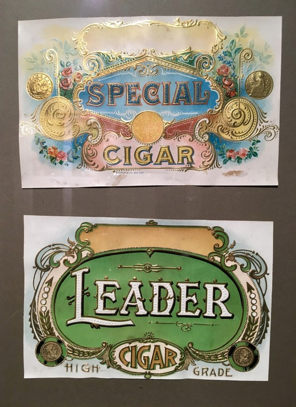 Antike Zigarrenkisten 2 - Etiketten im Lightner Museum -Antique cigar box lables in the Lightner Museum