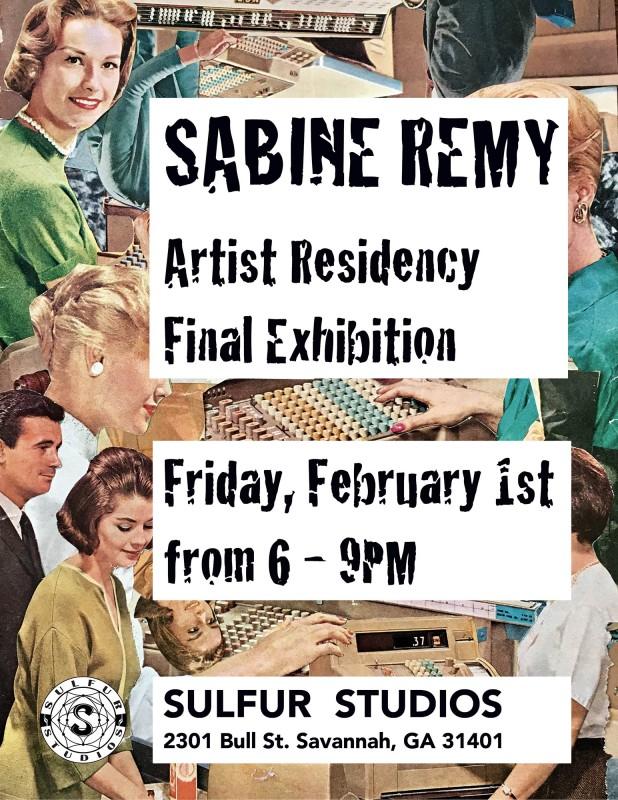Ausstellung zum Ende meiner Artist Residency bei Sulfur / Exhibition at the end of my Artist  Residency at Sulfur