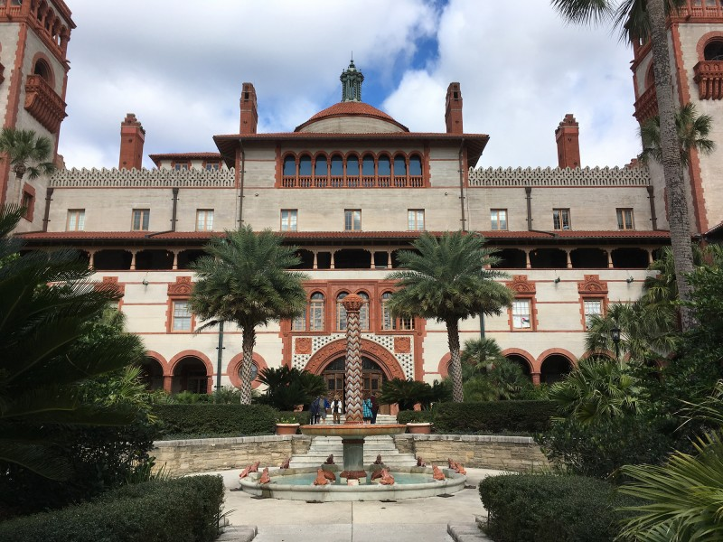 Innenhof des Flagler Colleges - Inner courtyard of the Flagler College