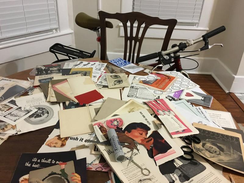 Meine Atelier-Dependance in meiner Unterkunft / My studio dependance at my AirB&B