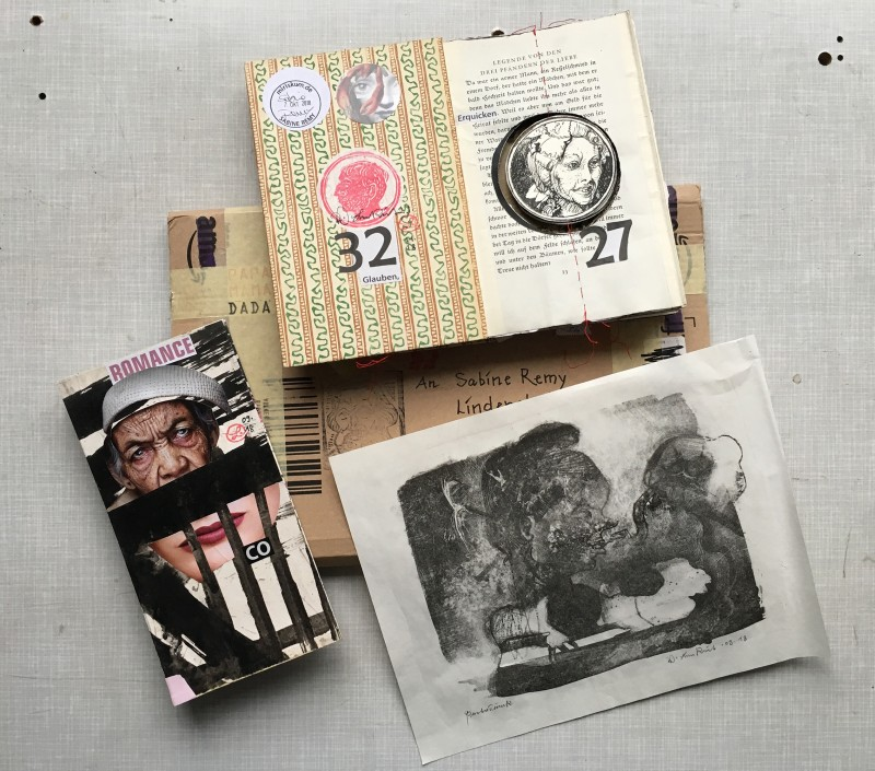 The package I received from Volker Lenkeit - including a new Leporellation starter and an original lithograph by him