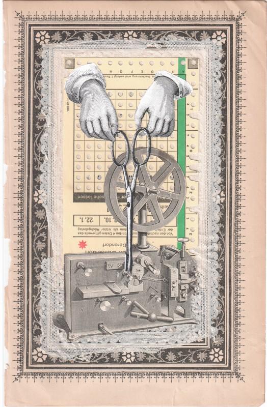 ohne Titel - 1-2019 - 24,7 x 16 cm Hintergrund aus dem Jahr 1897