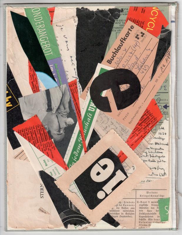 Hommage to Kurt Schwitters - Buchlaufkarte