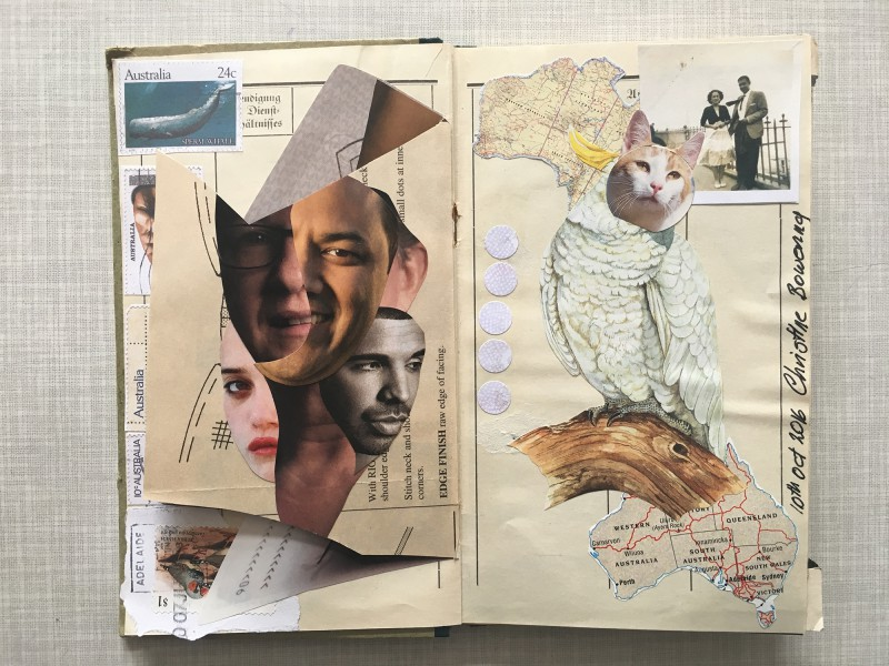 Add and pass Landarbeiterbuch double page by Christine Bowering