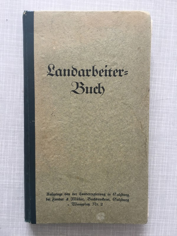 Add and pass Landarbeiterbuch Cover