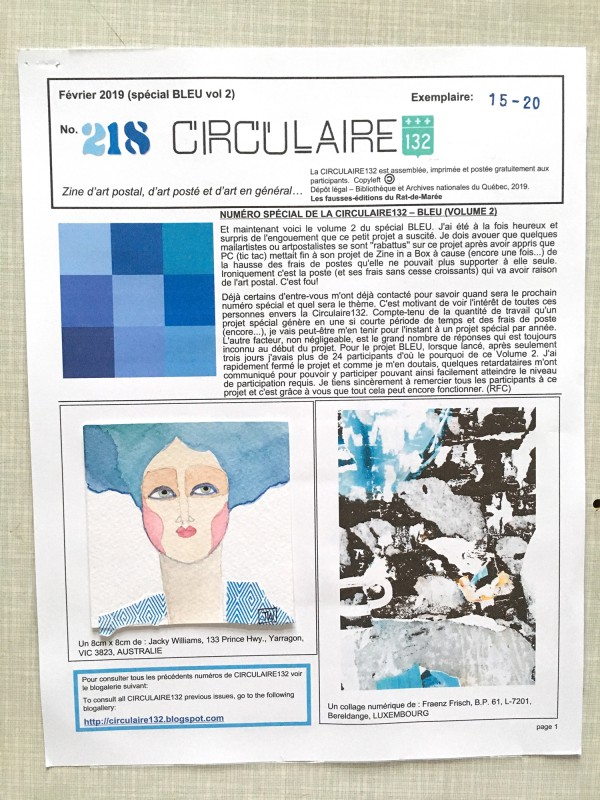 Circulaire 02 2019 Special BLUE VOL2 Seite 1