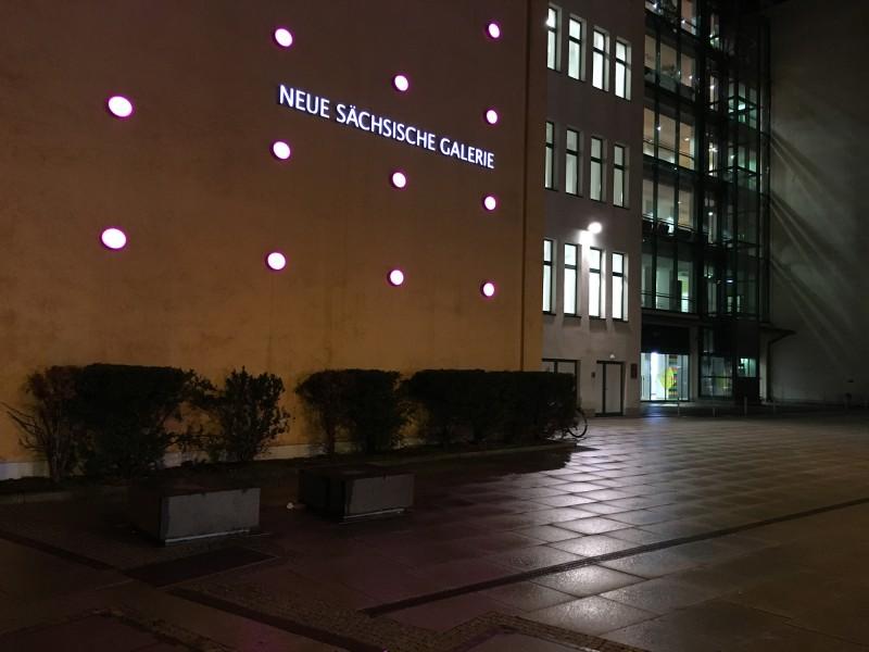 Neue Sächsische Galerie Chemnitz - bei Nacht - at night