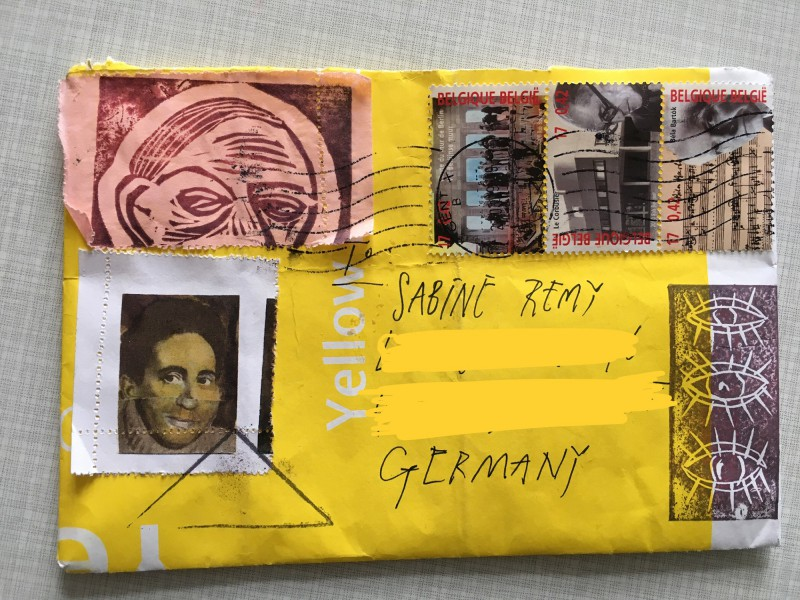 Incoming Mail Art from Ria Bauwens aka Frips aka necessityofnonsense - 1