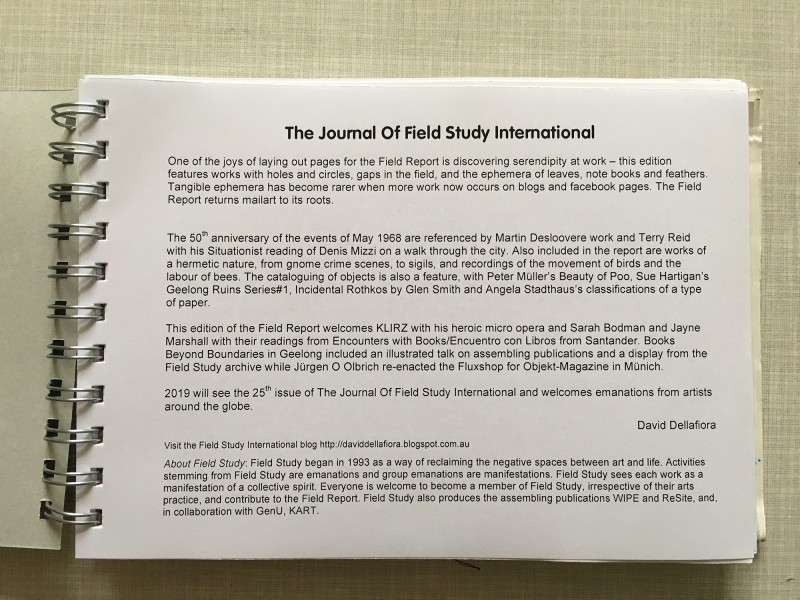 Journal of Field Study International - Field Report 2018 - 2