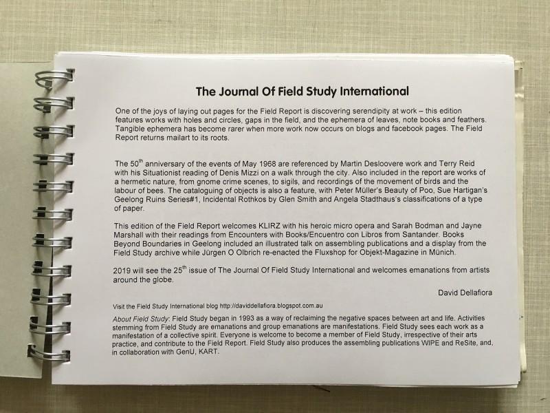 Journal of Field Study International - Field Report 2018 - 2