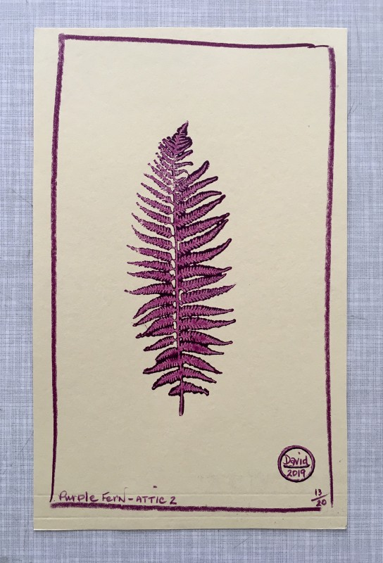 Attic Zine No4 - Purple - David Mattingly