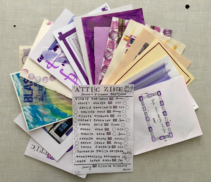 Attic Zine No4 - Purple - all together