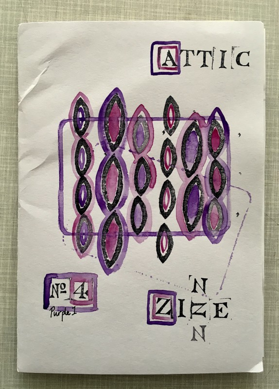 Attic Zine No4 - Purple - cover