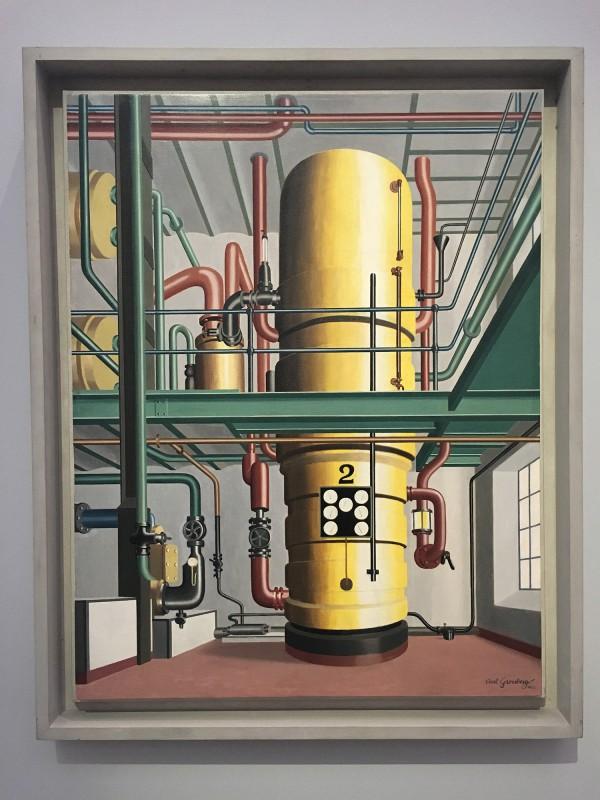 Museum Folkwang - Der montierte Mensch - Carl Grossberg - Der gelbe Kessel - The Yellow Boiler - 1933