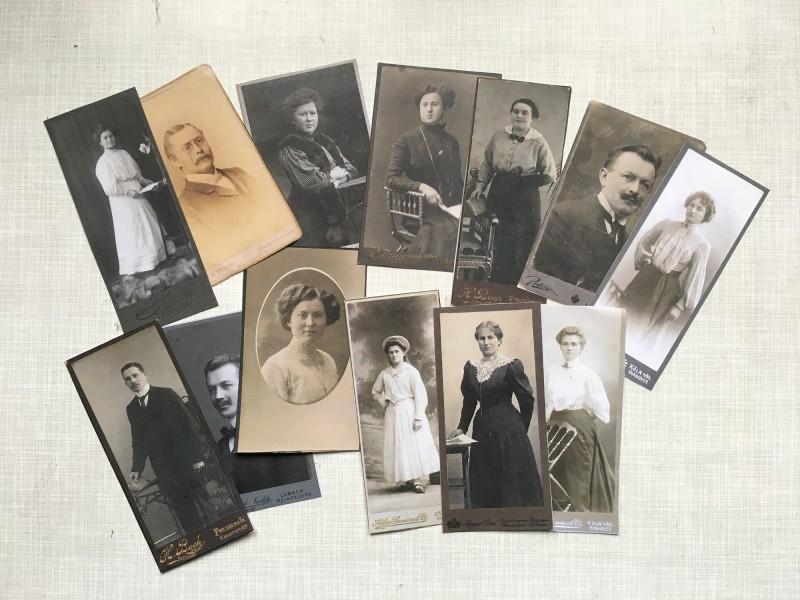 Some of the cabinet cards I used - Einige der Kabinettkarten die ich verwendet habe