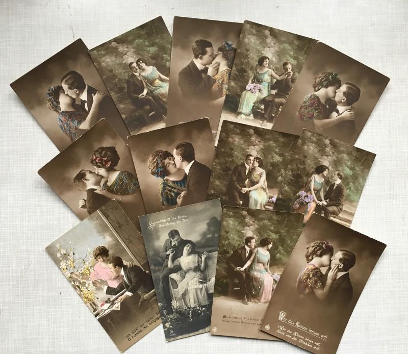 The postcards I used - Die Postkarten die ich benutzt habe