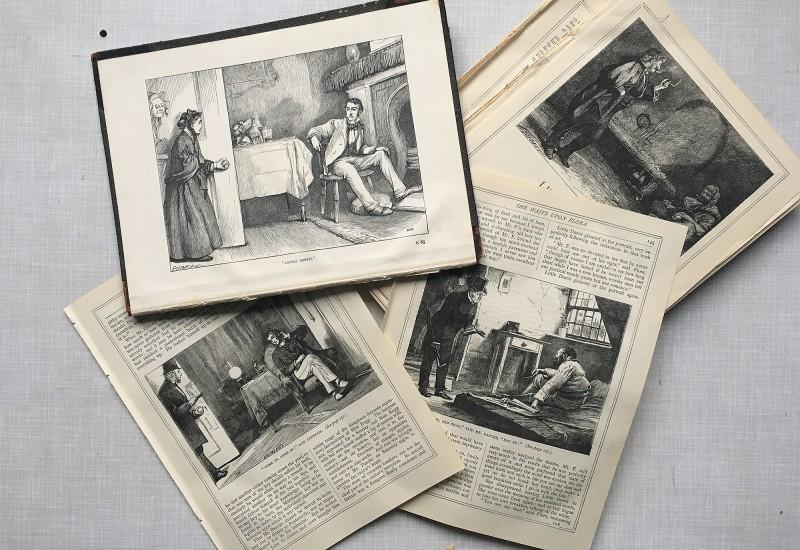 01-2020 - Charles Dickens Buch von ungefaehr 1900 - book form round about 1900