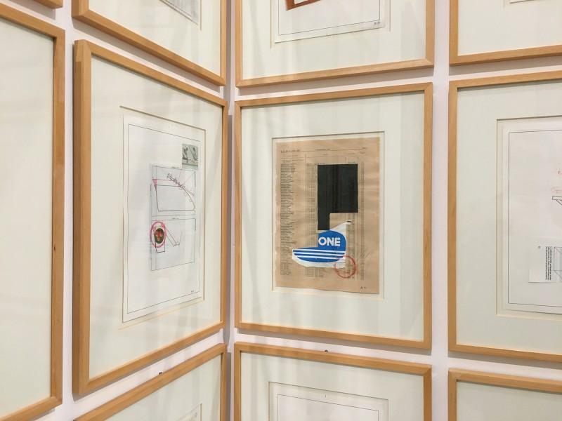 Martin Kippenberger - Bitteschön Dankeschön - Eine Retrospektive -Bundeskunsthalle Bonn 2019 - Nochmal Petra (verschiedene Titel) - Another Petra (Various titles)  1987 - Detail