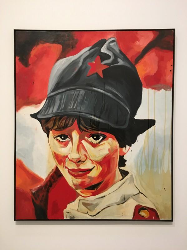 Martin Kippenberger - Bitteschön Dankeschön - Eine Retrospektive -Bundeskunsthalle Bonn 2019 - Sympathische Kommunistin - Likable Cimmunist Woman - 1983