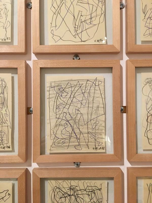 Martin Kippenberger - Bitteschön Dankeschön - Eine Retrospektive -Bundeskunsthalle Bonn 2019 - The Canary Searching for a Port in the Storm - 1988- Detail