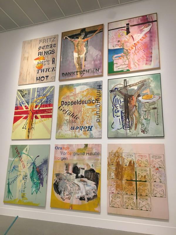 Martin Kippenberger - Bitteschön Dankeschön - Eine Retrospektive -Bundeskunsthalle Bonn 2019 -ohne Titel - aus der Serie