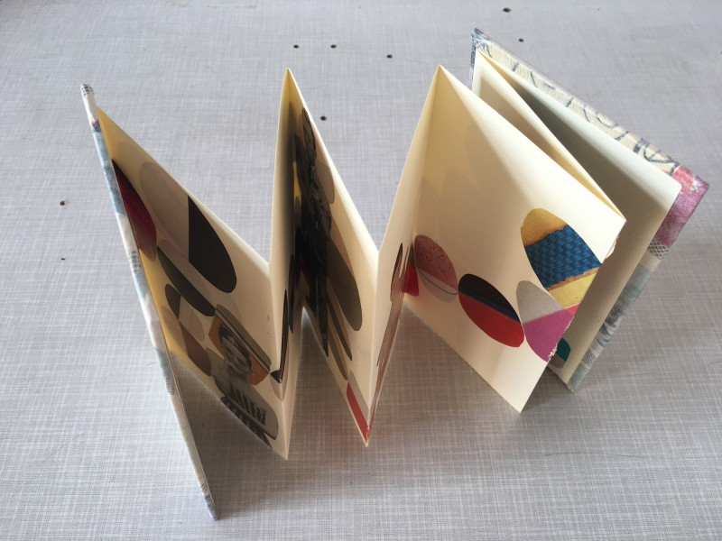 INcoming Mail from Alison Kurke - collaged accordion book - 03-2020