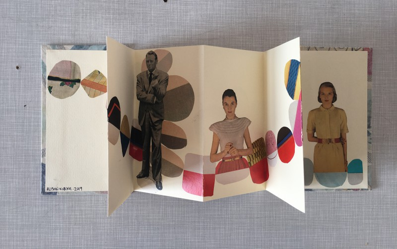 INcoming Mail from Alison Kurke - opend accordion book - 03-2020