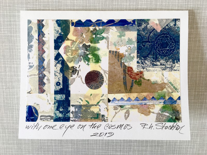 Incoming MailArt from Robert Stockton - Collage and private note