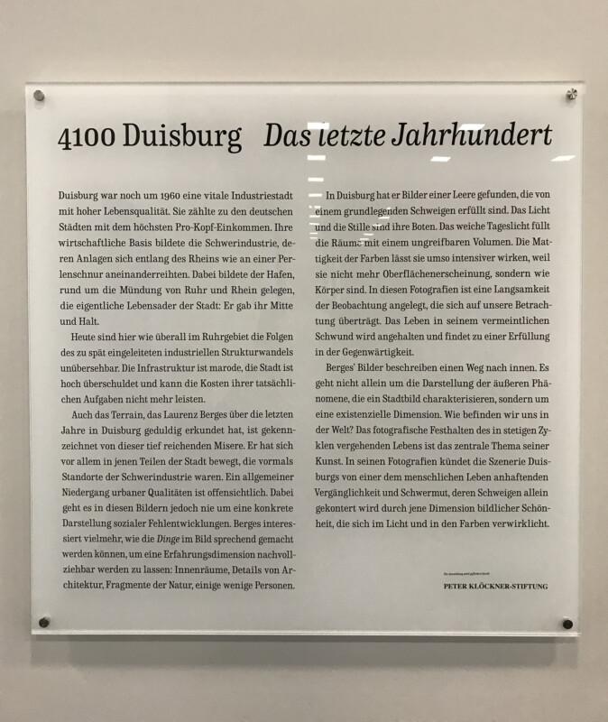 Laurenz Berges - 4100 Duisburg Das letzte Jahrhundert - Josef Albers Museum Quadrat Bottrop- 2