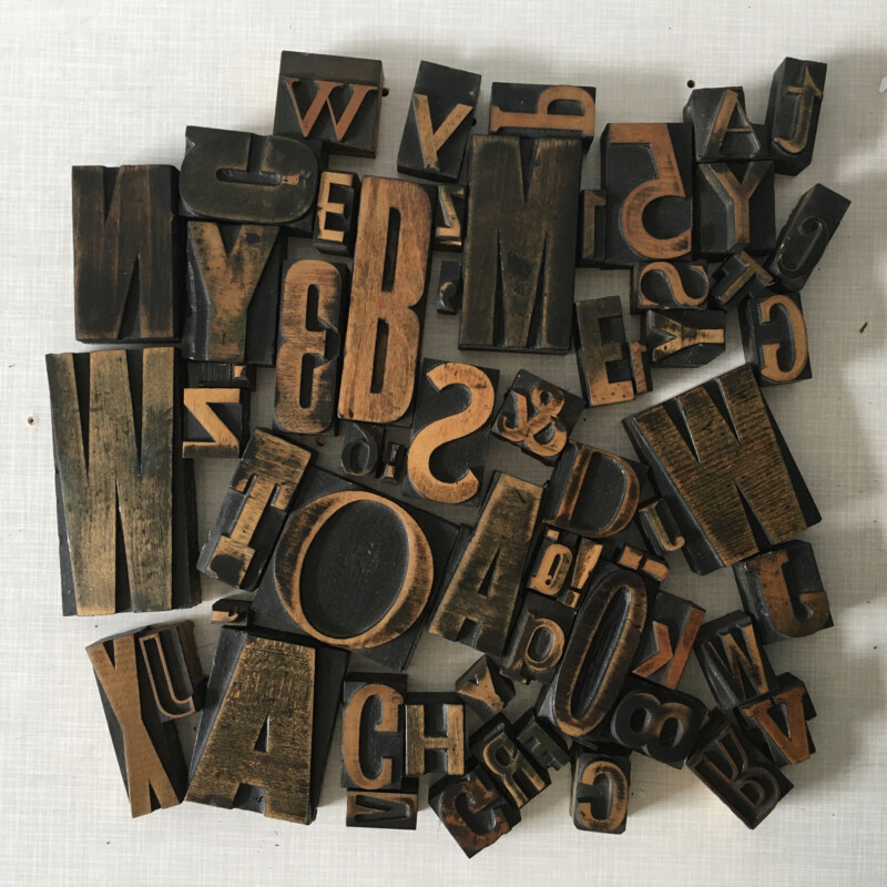 Wooden letter stamps June 2020