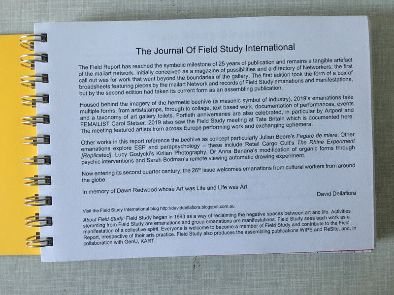 Journal Of Field Study International - Field Report 2019 - 2