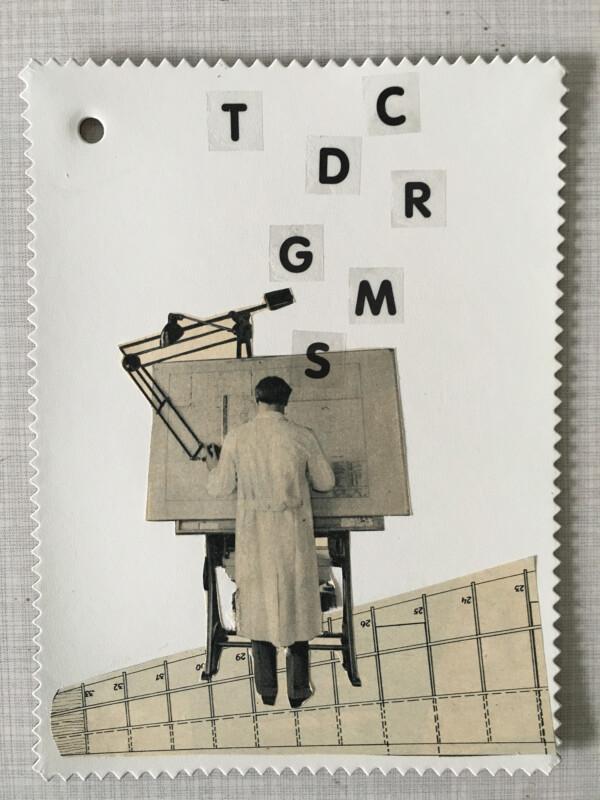 Linoleum Postkarte - 1 BV