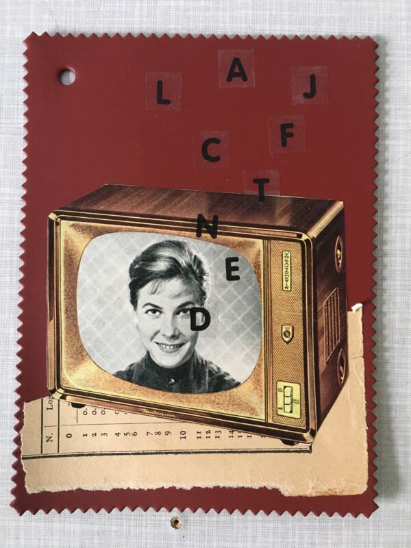 Linoleum Postkarte - 4 BV