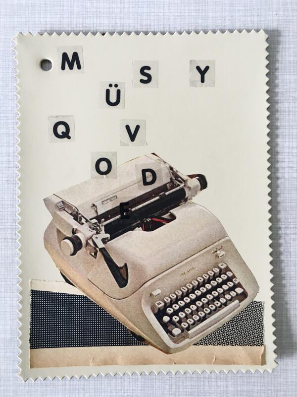 Linoleum Postkarte - 5 BV