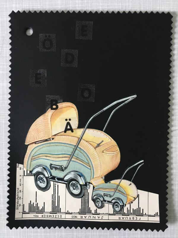 Linoleum Postkarte - 6 BV