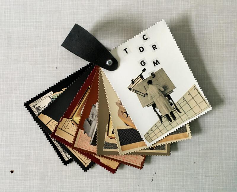 Linolium Postkartenfaecher