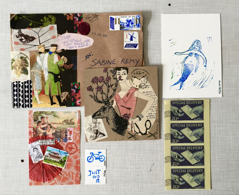 Mail Art from Reina Huges July 2020