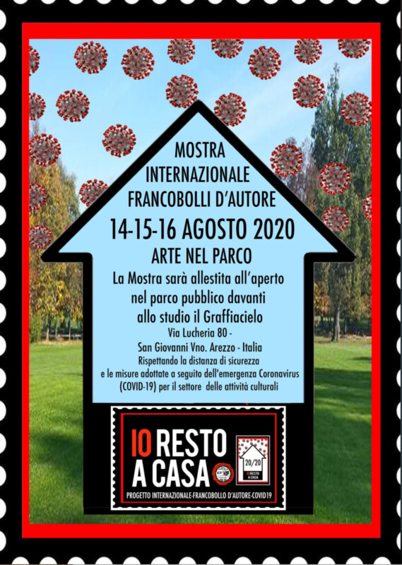 Io resto a casa - Open Air exhibition in San Giovanni Valdarno, Arezzo, Italien
