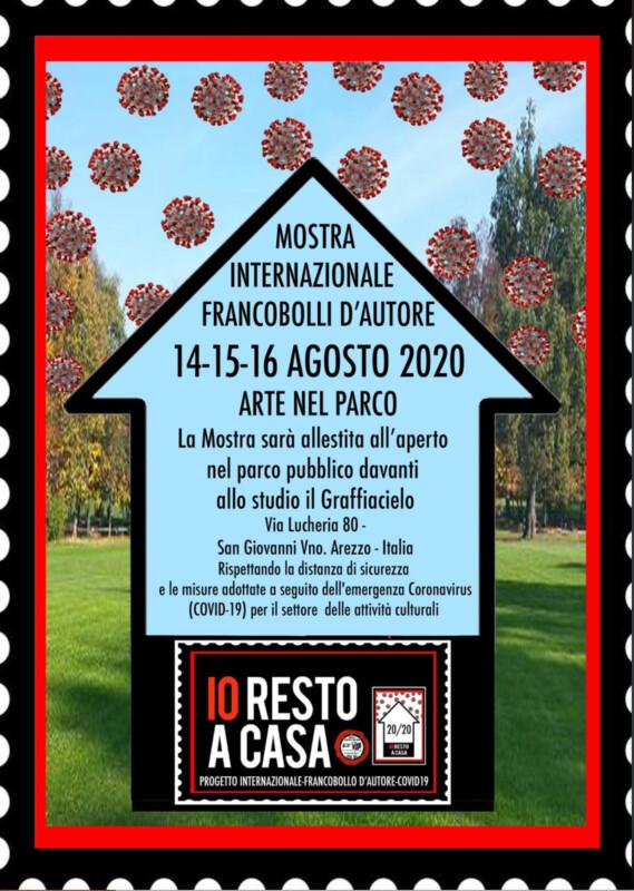 Io resto a casa - Open Air exhibition in San Giovanni Valdarno, Arezzo, Italien