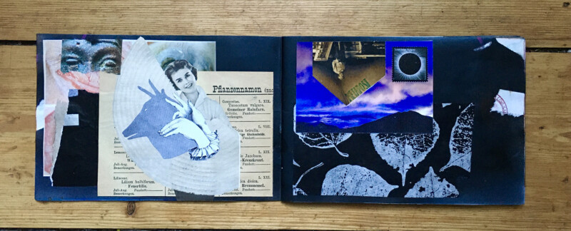 Pass Book started by Jon Foster - left side Stefan Heuer and Susanna Lakner - right side unknown