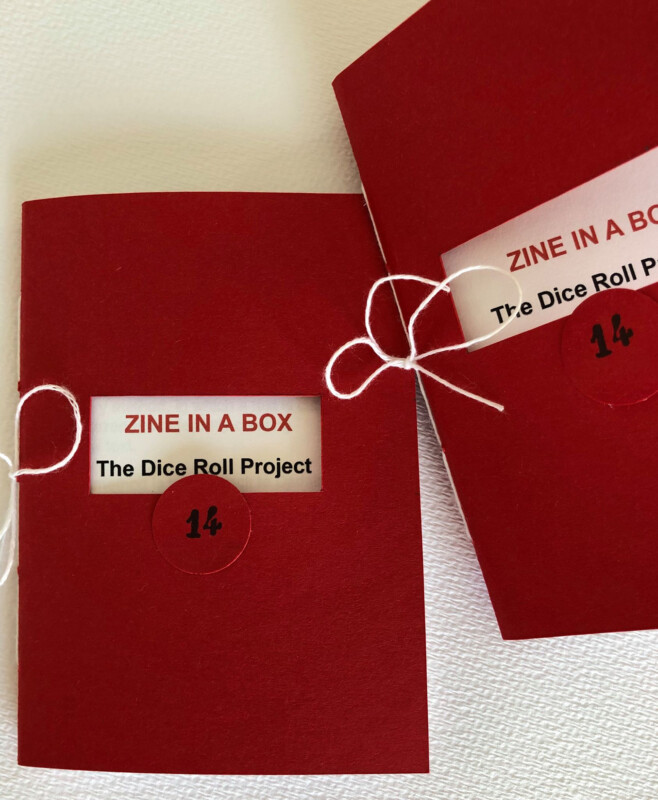 Zine in a box 14 - The dice roll project - The Zine - photo by Tictac Patrizia