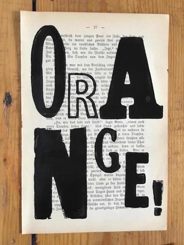 Attic Zine Orange - eine meiner 20 gedruckten Seiten / one of my 20 printed pages