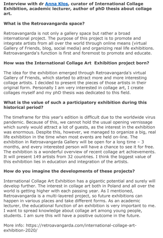 International Collage Art Exhibition 2020 -Retroavangarda- 13