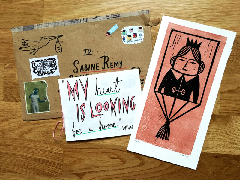 Incoming Mail Art January 2021 - Carina Granlund