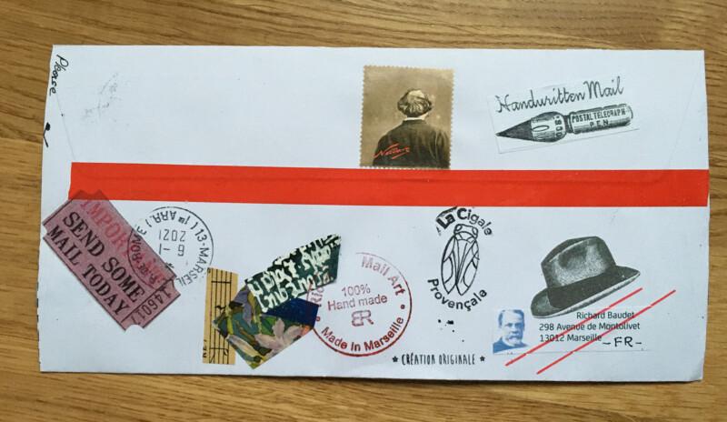 Incoming Mail Art January 2021 - Richard Baudet - back